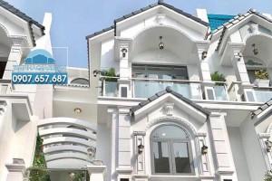 Bán nhà phố khu Petechim đường Huỳnh Tấn Phát, DT 6.4m x 13m, sổ hồng, thiết kế đẹp